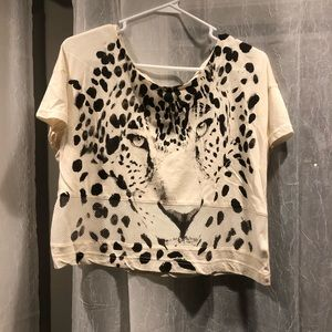 BOGO Leopard crop top